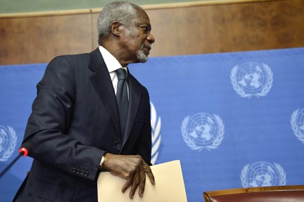 Kofi Annan renuncia ao cargo de mediador do conflito da Síria (Foto: Martial Trezzini/AP)