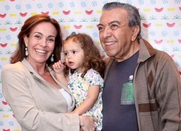 Flávia Monteiro, Sophia e Maurício de Sousa (Foto: Reprodução/Instagram)