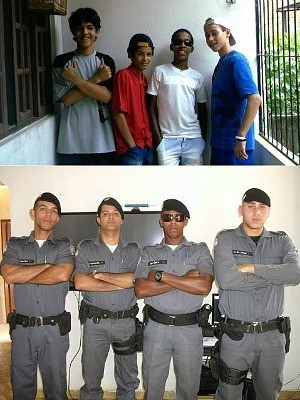 Quatro amigos de infância realizam sonho de serem policiais no Espírito Santo (Foto: Arquivo Pessoal)