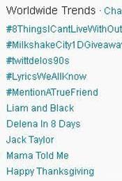 Trending Topics no Mundo às 17h17 (Foto: Reprodução)