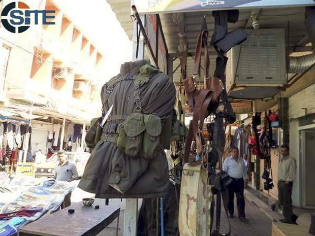 Loja do Estado Islâmico em Mosul, no Iraque (Foto: Reprodução/ Twitter/ Rita Katz)