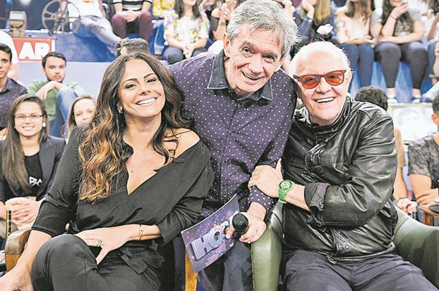 Viviane Araújo e Ney Latorraca estarão entre os convidados de Serginho Groisman no 'Altas horas' (Foto: Ramón Vasconcelos / TV Globo)