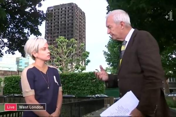 A cantora Lily Allen questionando as autoridades britânicas (Foto: Reprodução)