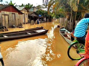 Com 15% da cidade atingida pelo Rio Acre, Xapuri declarou estado de emergência  (Foto: Isabela Verçosa / Arquivo Pessoal)