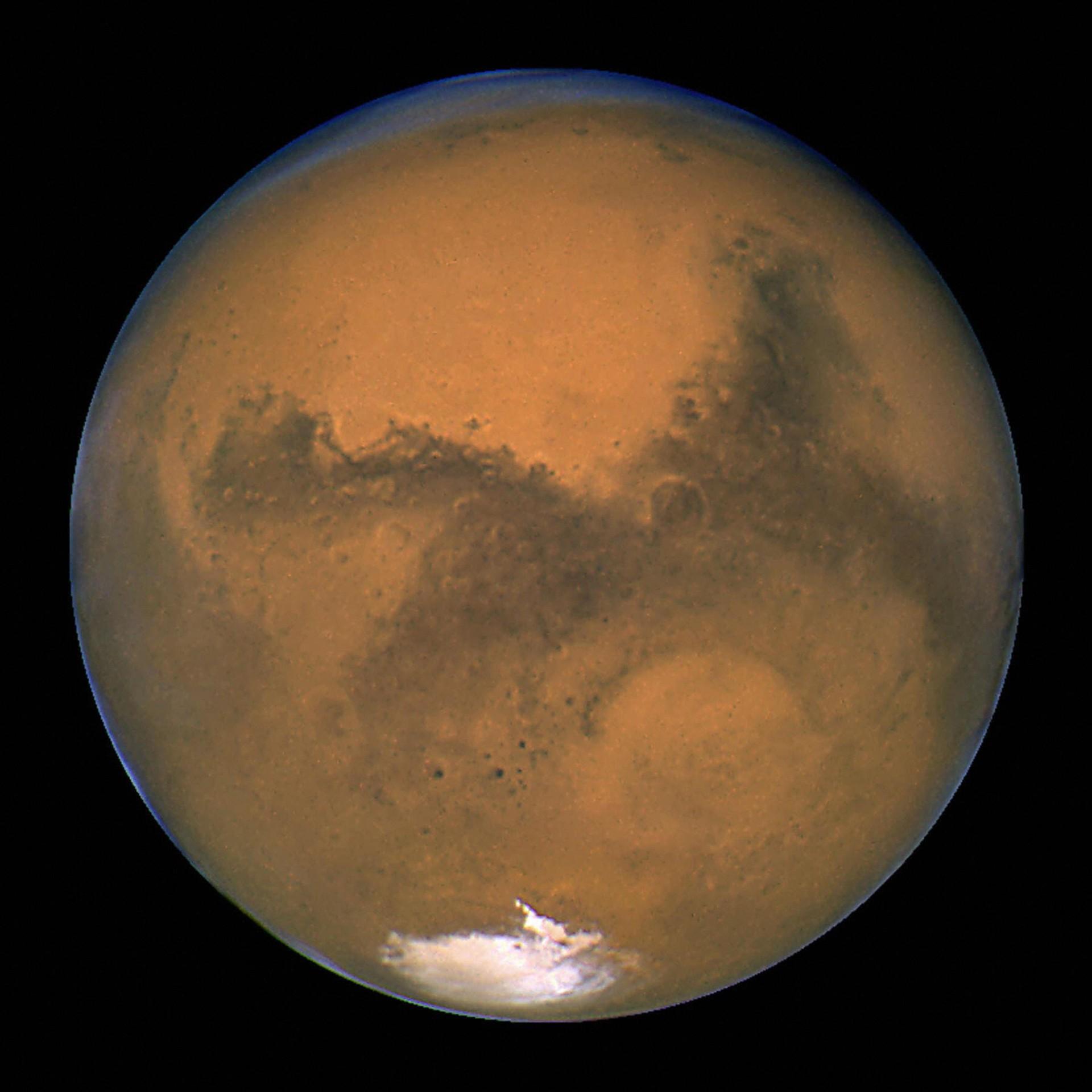 Nasa descobriu água salgada em Marte  (Foto: Getty Images)