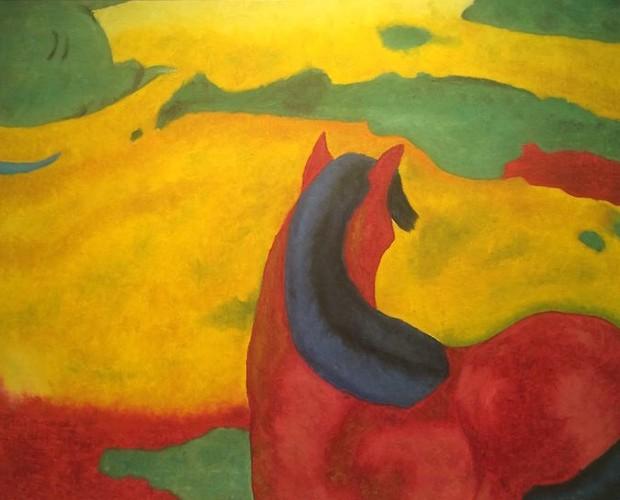 Tela pintada pelo ator Bruno Fagundes (Foto: Arquivo pessoal)