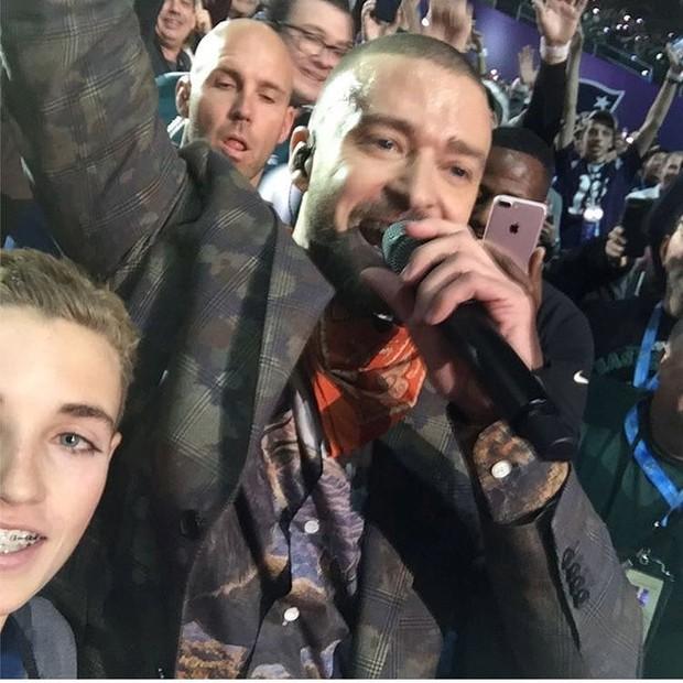 Justin Timberlake no Superbowl (Foto: Reprodução/Instagram)
