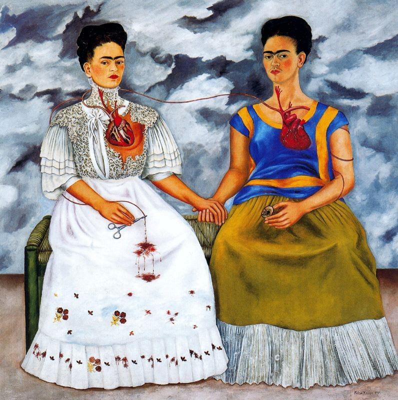 """Quadro """"As duas Fridas"""", da artista Frida Kahlo, de 1939 (Foto: Reprodução/ Flickr/ Cea +/ Creative Commons)"""