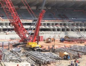 Obras de reforma do Mineirão para o Copa de 2014 (Foto: Roberto Rodrigues / Globoesporte.com)