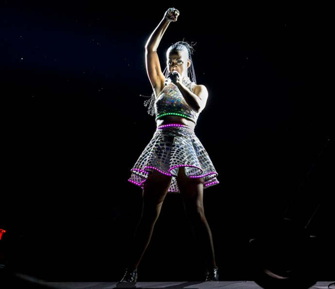 Katy Perry lacra no Rock in Rio (Foto: Divulgação)