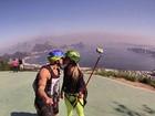 Yuri e Angela Sousa praticam parapente juntinhos: 'Casal radical'