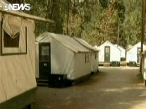 Pessoas que ficaram em tendas no Parque Nacional de Yosemite podem ter sido expostas a vírus mortal (Foto: Reprodução/Globo News)