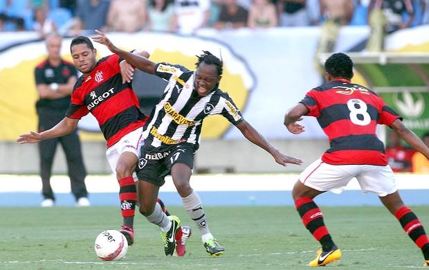 Andrezinho na partida do Botafogo contra o Flamengo (Foto: Guilherme Pinto / Ag. O Globo)