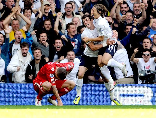 modric e bale tottenham gol liverpool (Foto: Agência Getty Images)