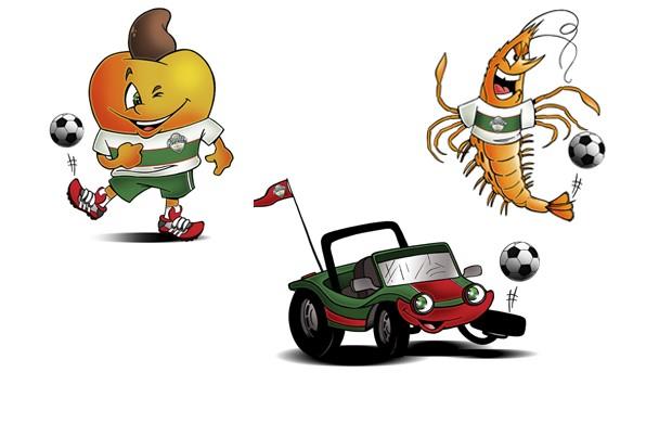 Buggy, caju e camarão: FNF escolhe mascote para Campeonato Potiguar 2013 (Foto: Brum/Divulgação)