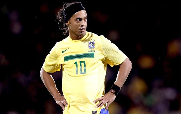 Ronaldinho Gaúcho na partida da Seleção Brasileira (Foto  Getty Images) 78c2f9845f3c0