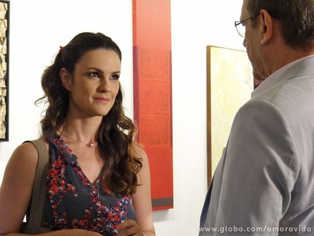 Gina e Herbert sentem uma ligação especial, mas ela fica confusa (Foto: Amor à Vida/TV Globo)