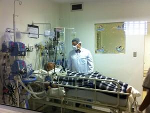Homem que recebeu coração em transplante está estável em MS (Foto: Gabriela Pavão/ G1 MS)
