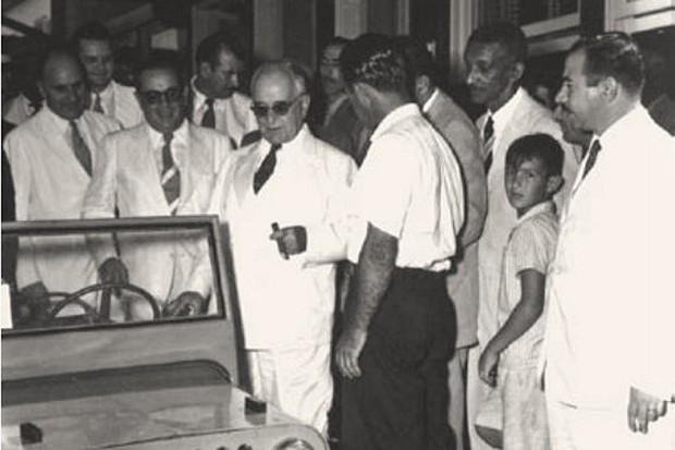 """""""Um encontro ao acaso"""" com o presidente Getúlio Vargas (Foto: Reprodução)"""