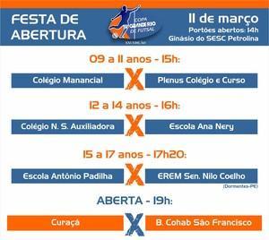 Jogos de abertura da Copa TV Grande Rio de Futsal (Foto: Marketing / TV Grande Rio )