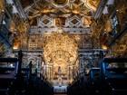 Com 400kg de ouro, igreja atrai turistas no Pelô (Egi Santana/G1)