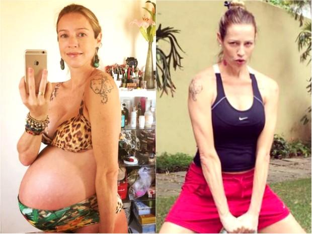 Luana Piovani antes e depois (Foto: Reprodução / Instagram)