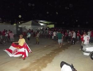 Estádio Barretão - torcida do América-RN (Foto: Jocaff Souza)