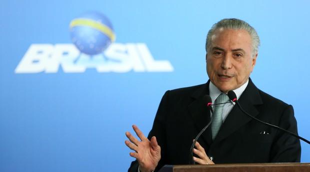 Michel Temer, presidente da República (Foto: Reprodução/Agência Brasil)