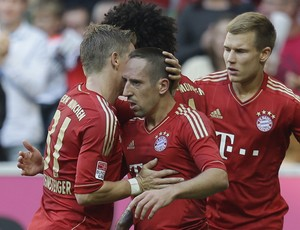 Ribery Bayern de munique gol Hoffenheim (Agência AP) (Foto: Agência AP)