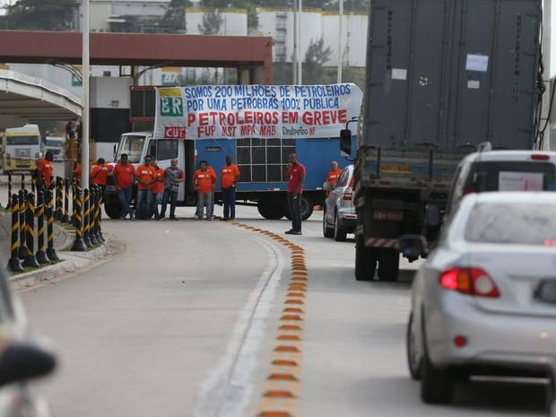 Greve Petrobras em Macaé (Foto: Luiz Bispo/SindipetroNF)