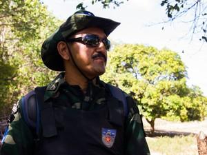 Tenente Edson do Batalhão de Policiamento Ambiental (Foto: Jonathan Lins/G1)