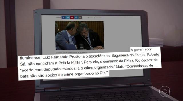 Ministro da Justiça faz declarações polêmicas em entrevista a portal de notícias