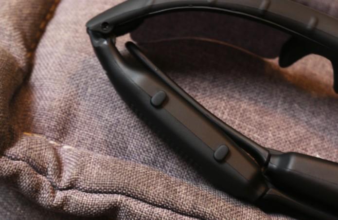 Botões do Óculos de Sol Leadership (Foto: Luciana Maline/TechTudo)
