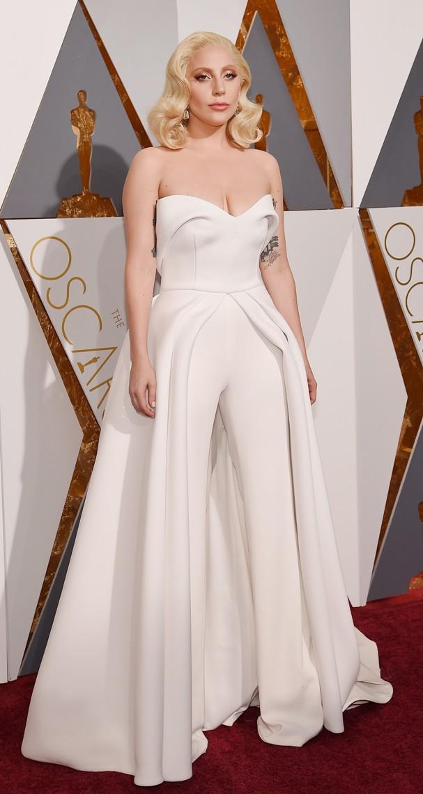 Lady Gaga no Oscar 2016 (Foto: Getty Images)