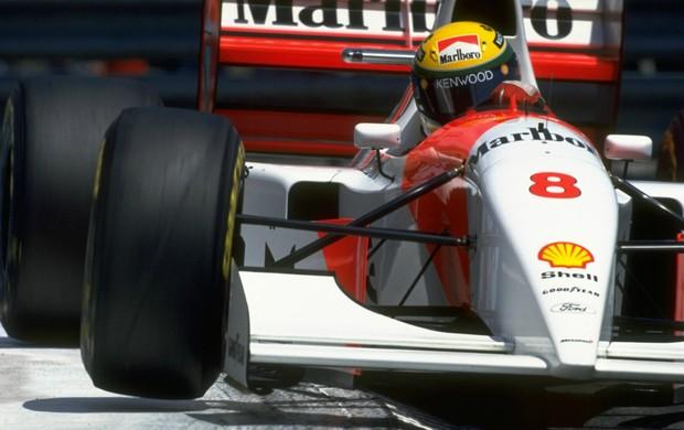 Ayrton Senna - GP de Mônaco de 1993 (Foto: Getty Images)