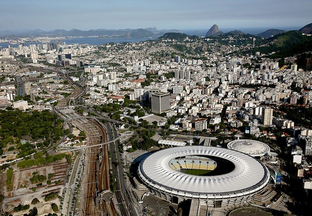 Olimpíadas 2016 - Jogos Olímpicos - Olimpíada - Vista aérea do Maracanã e Maracanazinho (Foto: Matthew Stockman/Getty Images)