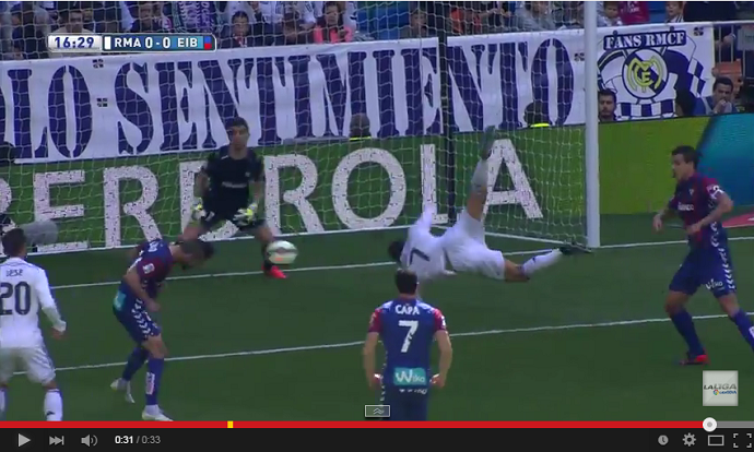 Frame - Cristiano Ronaldo furada