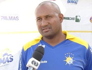 Técnico do Palmas, Wilsomar Sena  (Foto: Reprodução/TV Anhanguera)