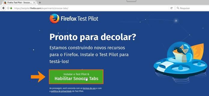 Ative o Snooze Tabs no Firefox pelo computador (Foto: Reprodução/Barbara Mannara)