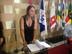Cintia dos Santos, secretária de Turismo (Foto: Abinoan Santiago/G1)