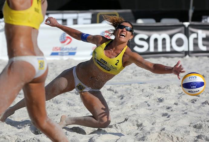 Juliana Maria Elisa Circuito Mundial de Vôlei de Praia (Foto: Divulgação/FIVB)