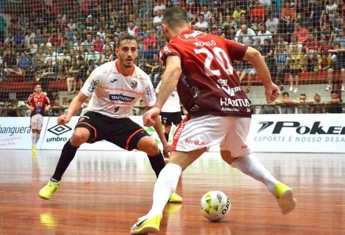 Atlântico Erechim x Carlos Barbosa liga nacional de futsal (Foto: Ulisses Castro/ACBF)