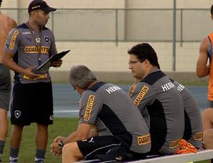 Comissão técnica do Botafogo (Foto: Reprodução / SporTV)