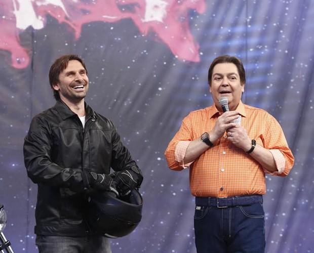 Ator falou emocionado sobre a história da Rede Globo (Foto: Raphael Dias/ Gshow)