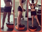 Após correr na praia, Amanda Lee faz treino funcional e mostra barriguinha