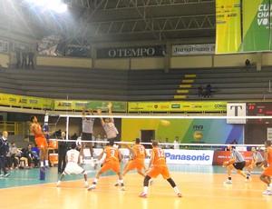Jogo entre La Romana e Sportif Sfaxien (Foto: Rafael Araújo)