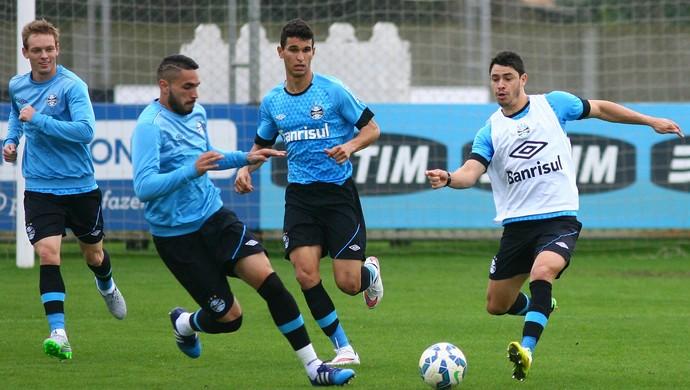 Giuliano Moisés Araújo Braian Rodríguez Grêmio (Foto: Lucas Uebel/Grêmio)