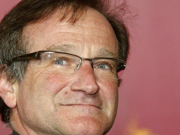 Ator Robin Williams durante Festival de Cinema de Berlim em 11 de fevereiro de 2004 (Foto: Arnd Wiegmann/Reuters)