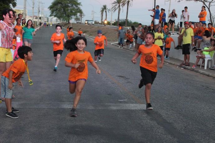 A garotada se divertiu durante a competição.JPG (Foto: Emerson Rocha)