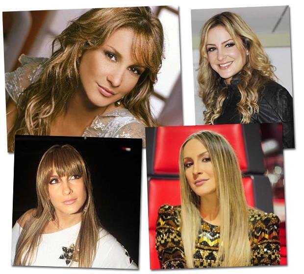 Alguns dos antigos visuais da cantora ao longo de sua carreira (Foto: Reprodução)